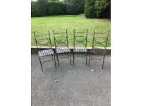 X4 Metal Classic Chairs in excellent condition