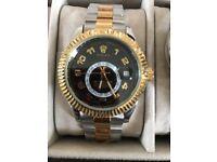 2017 Rolex Sky-Dweller Bi Coloured 18ct Gold / Steel 40mm 326933 Black Dial Watch