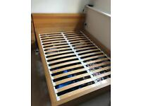 Ikea Malm double bed frame Beech