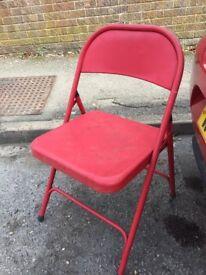 6 x Habitat Red metal chairs