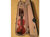 Stentor Messina Violin in case. With bow and rosin. Full size 4/4 Excellent Condition.