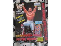 RARE WWE/ WWF WRESTLING SUPER STARS POSTER MAGAZINE BRITHISH BULLDOG HAVE OTHER MAGAZINES