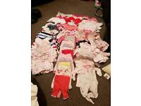 Baby girl bundle first size 0-3