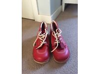 Size 7 red kickers( genuine) worn once