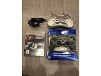 PlayStation 3 DualShock 3 Official Wireless Controller Urban Camo. Carry Case, Box & F1 Game.
