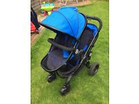 iCandy Peach Blossom double pushchair and accessories