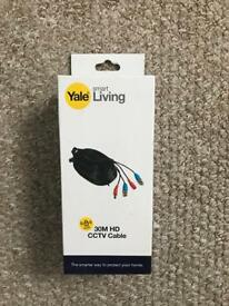 Yale 30m Cctv camera extension cable lead.