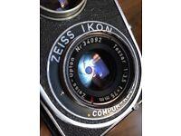 Zeiss ikon flex TLR 6x6 120 film medium format camera with Tessar lens. Near mint condition