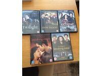 Twilight saga DVD set