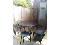 Immaculate CREATIONS round Extending Dining Suite of 6 Chairs +Matching Display Cabinet&Coffee Table