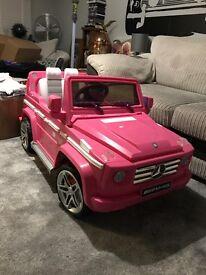 Mercedes Benz g wagon amg kids electric car