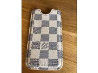 iPhone Case Louis Vuitton Black White Check