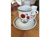 Portmeirion Collection of Cups & Saucers