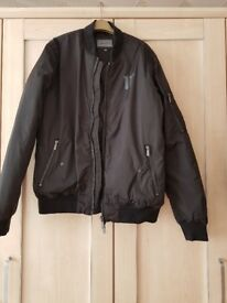 Mens 11 degree black bomber jacket