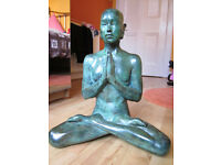 """Rare Limited Edition 18"""" Statue in Bronze Buddha """"Prayer"""" by Laura Lian No2 of 25 Signed with COA"""