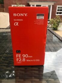 Sony FE 90mm F2.8 Macro G OSS lens for Sony Alpha Cameras. As new condition