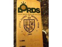 Signed Cricket Bat - Glamorgan 2001