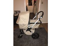 Bugaboo Cameleon 2, second generation,sand colour. Included carrycot, seat unit and rain cover.