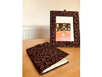 NEW Handcrafted Ethnic Indian Frame and Notebook