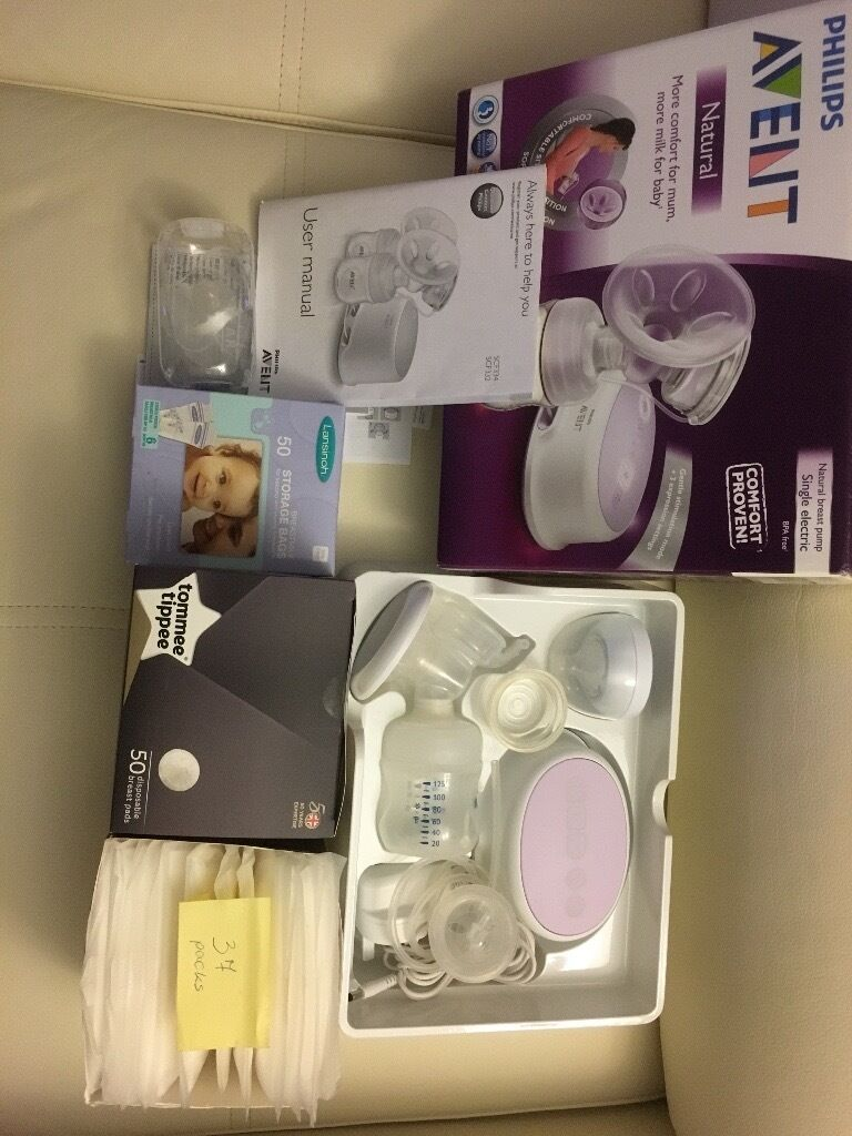 Avent breast pump set plus extrain Gloucester, GloucestershireGumtree - Avent breast pump used twice perfect condition unopened box of 50 lansinoh milk storage bags full box of 50 tommee tippee breast pads in unopened box 37 packs unopened pads Avent nipple covers