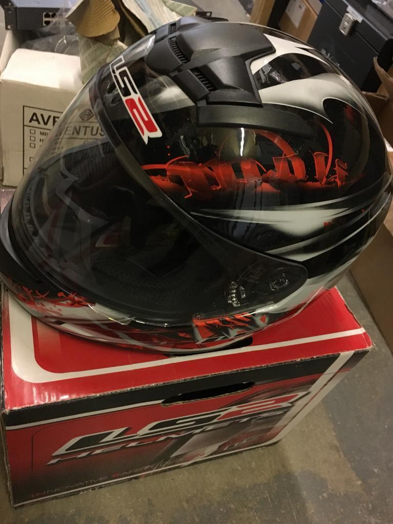 Motorbike helmet and ducati windscreen