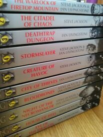 Excellent Set Of Fighting Fantasy Gamebooks By Steve Jackson and Ian Livingstone