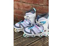 Girls inline skates adjustable size uk 3 - 7 K2 Charm Pro very clean - rollerblades