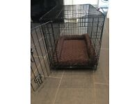 Dog crate - small/medium - 760l x 480w x 550d. Suits cocker spaniels, border terrier, etc.