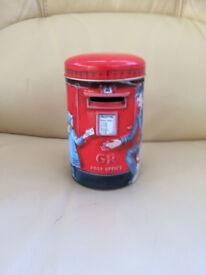 New - money box with post office scene