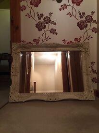 Shabby Chic large cream mirror