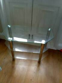 Glass TV stand coffee able
