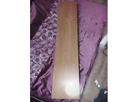 x2 oak veneer floating shelf