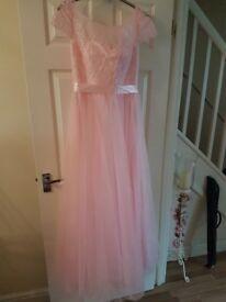 4x pink bridesmaid dresses uk sizes 8,12,16,22