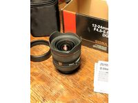 Sigma EX 12-24mm F4.5-5.6 DG HSM wide angle zoom Lens for Nikon AF-D, boxed with case. Hackney
