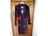 Stunning Velvet Fairtrade coat made by Nomad. Size small. Unworn, tags on.