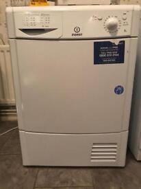 White indesit 8kg condenser tumble dryer