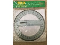 Helix 360 degree 15cm protractor