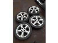 Vauxhall Astra mk5/ Zafira mk2 17 INCH 5 Stud Alloys 5 SPOKE Maybe PX Ring for more info