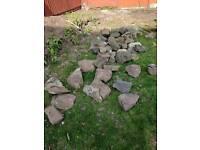 Feature garden rocks