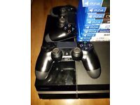 PLAYSTATION 4 500GB WITH 10 GAMES & 2 CONTROLLERS - £300 ono
