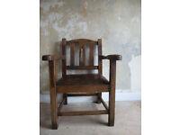 Chunky Early 20th Century Oak Armchair