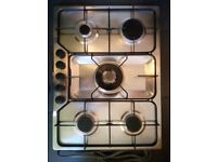Stainless steel 5 ring burner gas hob (as new)
