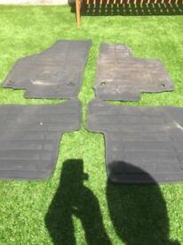 VW Golf mk6 rubber foot matts