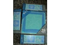 NEW - 1 BOX TILES + 3 BOXES STRIP / BORDER TILES : FISH & SHELL DESIGN