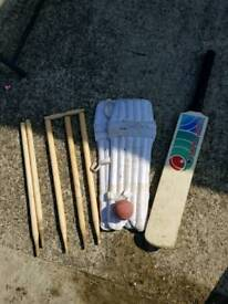 Kids cricket stuff all in used condition