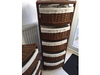 Basket storage on wheels