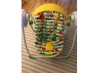 Baby Musical Swing Chair Safari Mothercare