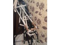Wall Clothes rail white metal loads for sale