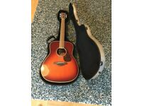 Acoustic Guitar - Yamaha FG730S Tobacco Brown Sunburst. JW Eastman Hardcase + Accessories