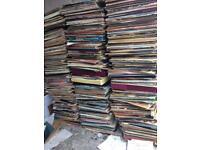 1000 various record vinyl lps.